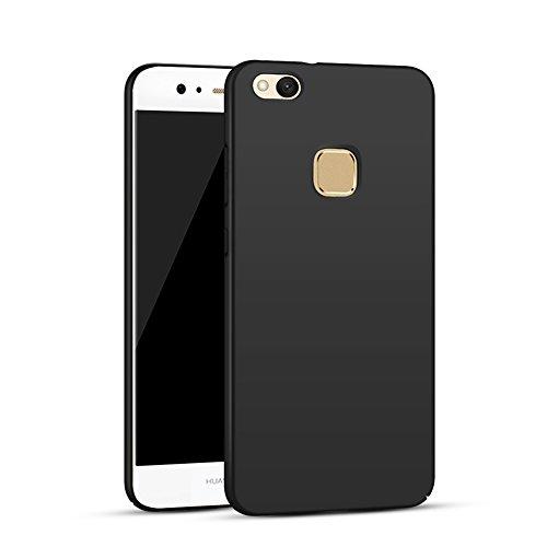 Cover Huawei P10 Lite, AILRINNI Custodia Ultra Sottile Leggera [Morbido tocco] Antiscivolo Duro PC Shell Per Huawei P10 Lite Smartphone - Nero