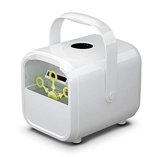 Mitrc Child Bubble Machine, Automatisches Blasengebläse, Plug-In Oder Batterien, Außen- / Innenbereich, Für Hochzeitsfeiern Spaß Im Freien Festivals,White