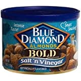 Blue Diamond Salt & Vinegar Almonds, Bold Tins, 6 oz, 3 pk