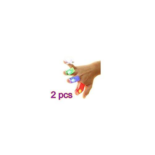 Tia-ve Funny doigt lumières Parfait Cadeau pour enfants au Jeu (lot de 4) 2pcs multi-color