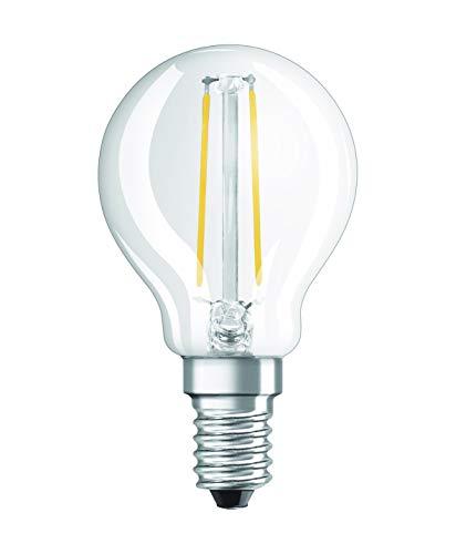 Osram LED Star Classic P Lampe, in Tropfenform mit E14-Sockel, nicht dimmbar, Ersetzt 25 Watt, Filamentstil Klar, Warmweiß - 2700 Kelvin, 1er-Pack