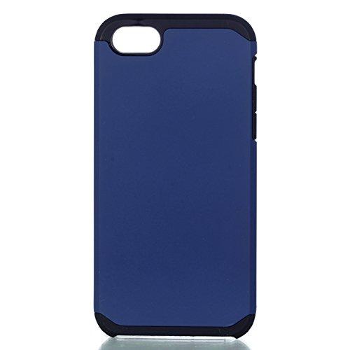"""iPhone 6 /6S hülle ,Camiter Rosengold Stoßfest Robuste Rüstung Dual Layer Weiche Silikon Plastik Schutzhülle Case Cover Schale Fall Tasche Hülle für Apple iPhone 6 /6S 4.7""""+ Freies Reinigungstuch Navy blau"""