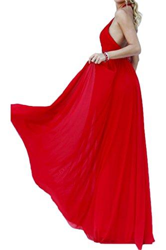 Missdressy - Robe - Dos ouvert - Femme Rouge