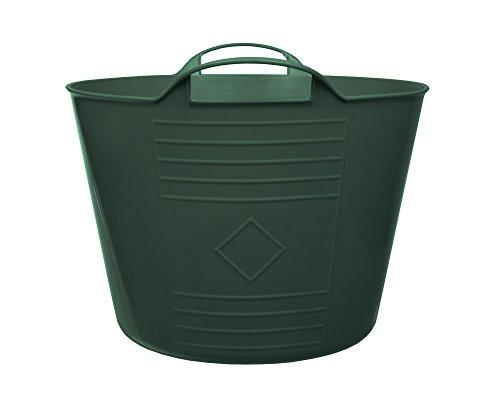 Ondis24 Flexi Tub flexibler Tragekorb Gartenkorb Wäschekorb auch für Flüssigkeiten geeignet Spielzeugeimer 15 Liter dunkelgrün rund