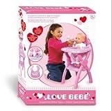 giochi preziosi rdf50399 love bebe' - seggiolone prima pappa
