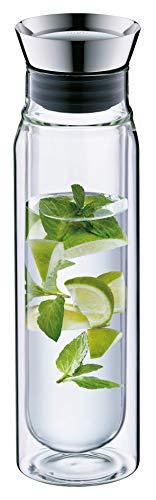alfi 2427.020.075 Wasserkaraffe flowMotion, Borosilikat-Glas doppelwandig 0,75 l, mit zerlegbarem Verschluss, spülmaschinenfest