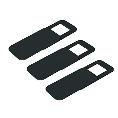 3 x Webcam Abdeckung, T10 3PCS Rechteck Kunststoff Webcam Abdeckung ultradünne Privatsphäre Protector Kamera Shutter Aufkleber für Telefon Tablet Notebook Desktop