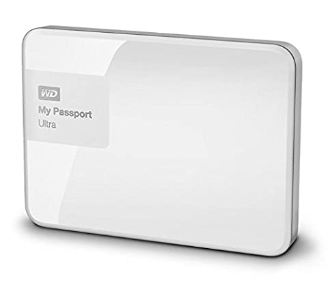 WD My Passport Ultra Disque Dur Externe Portable 2 To Blanc - USB 3.0 - WDBBKD0020BWT-EESN