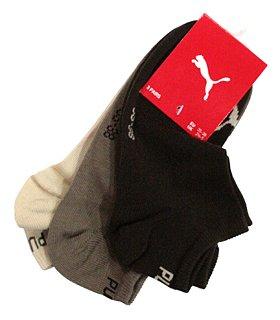 Puma Sneaker-Socken 3er-Pack braun, beige, natur Größe 47 - 49 -