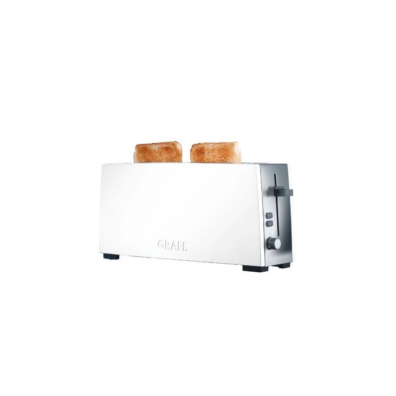 Graef Langschlitz Toaster To 91 Edelstahl Wei