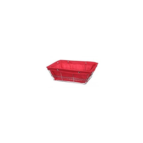 Panière multi usages rectangle - Rouge - Corbeille grand modèle