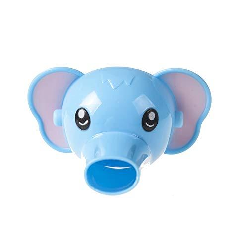 Estéreo de dibujos animados niño guía de agua para el bebé lavado a mano extensor del fregadero ayuda a la extensión del elefante azul (bolso de opp)