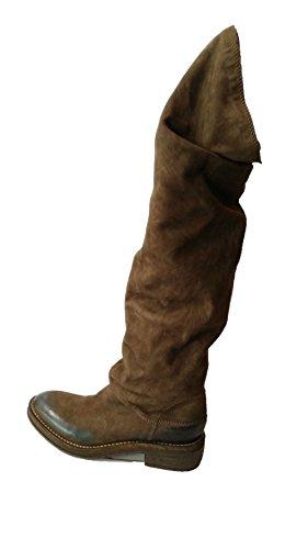 Stivale alto marrone scamosciato Vic Matiè tacco 4cm N.36