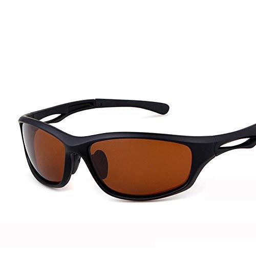 Wangwen Kids Sports Style Polarized Sonnenbrille Rubber Flexible Frame Für Jungen Und Mädchen (Color : Sand Black Tea)