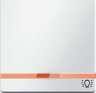 Hager Q.1-Taste mit Objektiv + Schriftzug Licht weiß Polar - Beleuchtung-kreuz-jalousie-objektiv