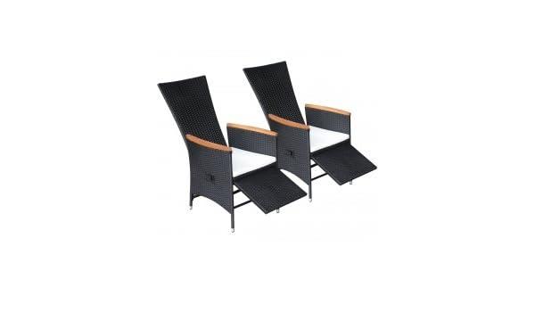 Outdoor Küche Vidaxl : Vidaxl 2x gartenstühle verstellbare poly rattan akazienholz outdoor