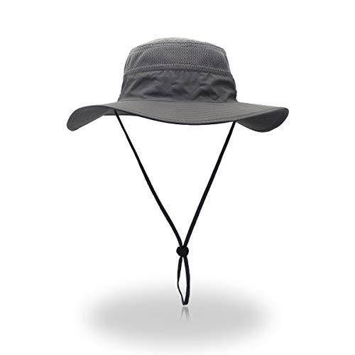 Sonnenhut Herren Damen UV Schutz Sonnenschutz Kopf Faltbar Wanderhut Gartenhut Boonie Fischerhut