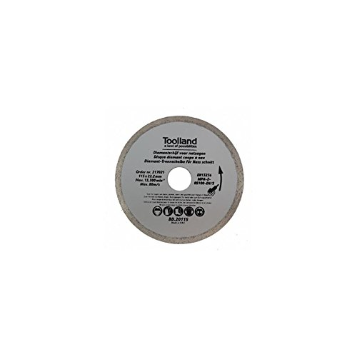 TOOLLAND – bd20125 Disque à tronçonner diamant, continu, Lot de 125 mm de diamètre (100)