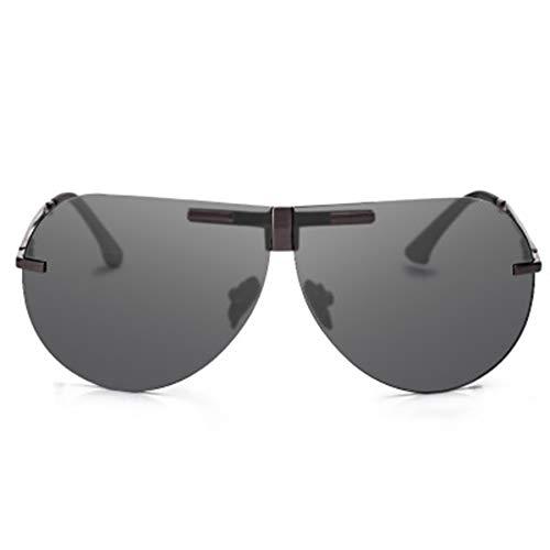 LKVNHP Hohe Qualität Faltbare Polarisierte Sonnenbrille Unisex Titanium Übergroße Sonnenbrille Männer Fahren Sonnenbrille Gafas
