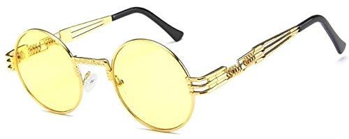 NNGETUI Unisex Steampunk Runde Sonnenbrille Vintage Retro Designer Brille Mens Fashion Clear Shades Sonnenbrille Frauen Classic Brand