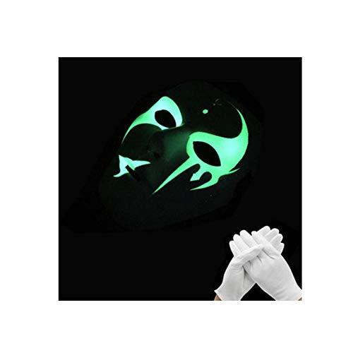 KYX-GAOMOUREN Halloween Leuchtende Fluoreszierende Straßentanz Maske Männer Und Frauen Handbemalte Glühende Geist Tanz Halloween Horror COS,N