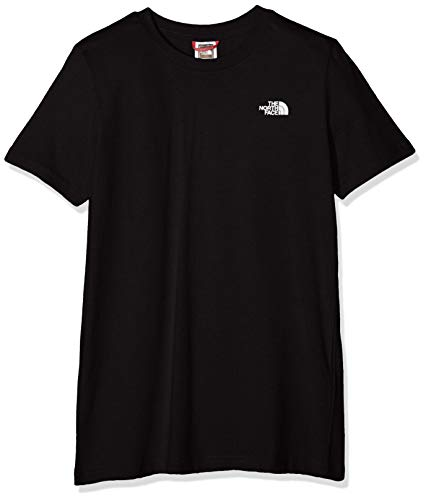 THE NORTH FACE Jungen Kinder Simple Dome T-Shirt, Black/TNF White, L North Face Dome