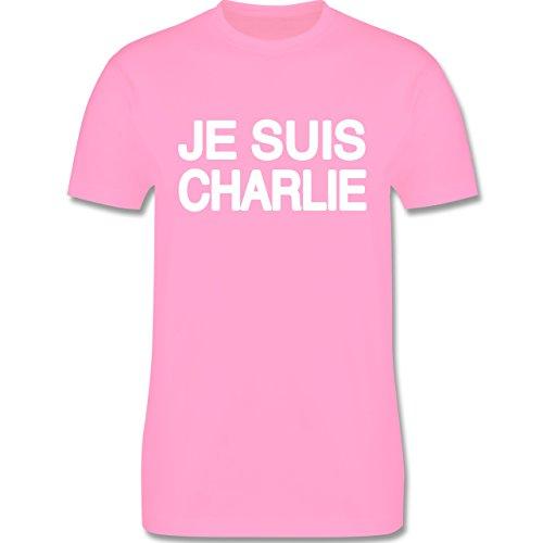 Statement Shirts - JE SUIS CHARLIE - Anschlag Charlie Hebdo Protest - Herren Premium T-Shirt Rosa