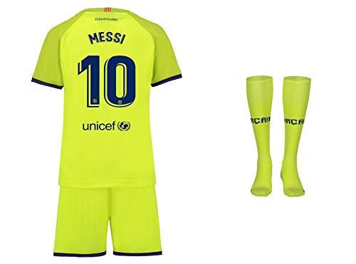 FC Barcelona Messi Trikot Kinder Auswärts 18/19 - Trikotsatz - Günstig - Fußball Shorts - Replica - Fussball Trikot Kaufen - Fußballbekleidung - Fussball (152)