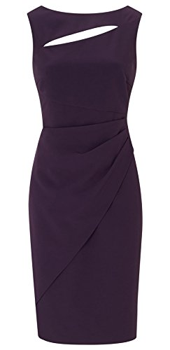 Pia Purple Rose Gold Zip Shift Dress