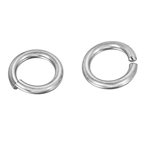VALYRIA Silver Tone Stainless Steel Metal Split Open Jump Rings Solid Craft Connectors Jewellery making findings 10mmx1mm 50pcs