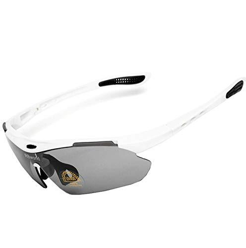 Beydodo Schutzbrille Infrarotlampe Brille Winddicht Unisex Weiß Sonnenbrille Schießbrille für Brillenträger