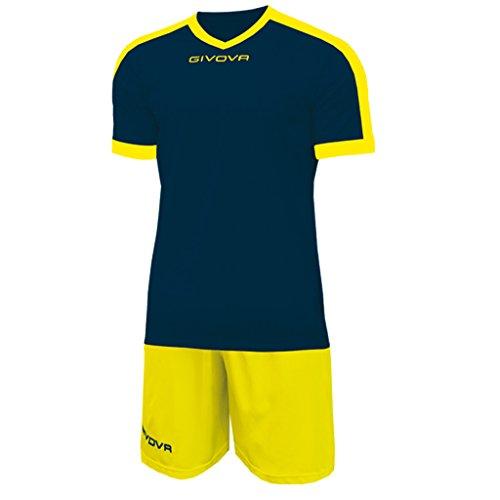 Givova kitc59, kit revolution unisex - adulto, blu/giallo, l