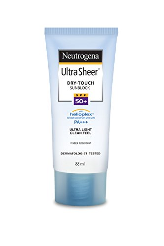Neutrogena Ultra Sheer Dry Touch Sunblock SPF 50+, White, 88 ml