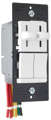 Pass & Seymour LSDC163PWV Dual Control Slide Preset Single Pole Dimmer, White by Legrand-Pass & Seymour - Preset Dimmer