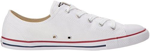 Converse CT Dainty Ox C537204 Damen Sneaker, Weiß (Blanc/Rouge), 39 EU - 6