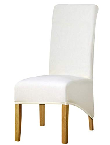 Zerci - Funda para Silla de Banquete (Elastano, tamaño XL), Blanco, X-Large...