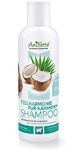 AniForte Fellharmonie Shampoo mit Kokosöl-Extrakt & Aloe Vera 200ml Hundeshampoo Kokos-Shampoo - Pflegeshampoo für Hunde -