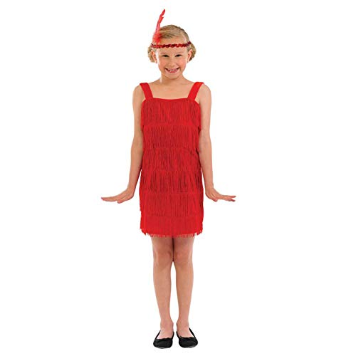 Fun Shack FNK3601XL Kostüm, Girls, 20s Flapper Dress Red, XL (Mädchen Red Flapper Kostüm)