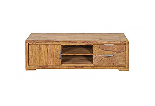 SAM® Longboard TV-Schrank White Mountain I aus Sheesham, zwei Schubfächer, zwei Ablageflächen, eine Schiebetür
