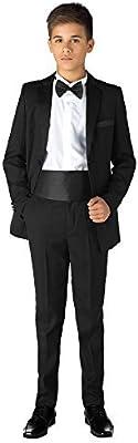 Paisley of London, Niño Negro Esmoquin, niño Traje De Cena, Graduación traje, niño Negro Trajes, 12 meses - 13 años