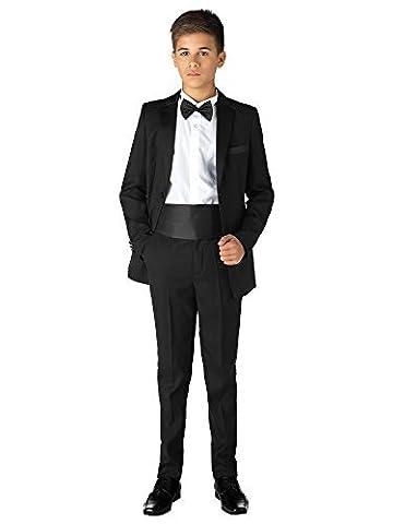 Paisley of London, Noir Pour Garçons Smoking, garçons Costume De Dîner, Costume De Bal, noir pour garçons pour, 12 mois - 13 ans - Noir, 10