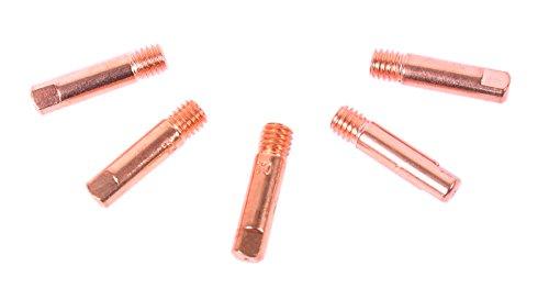 WELDINGER MIG/MAG Stromdüsen M6 0,9 mm 5er-Set für Fülldraht (Kontaktröhrchen Schweißzubehör MB 150)