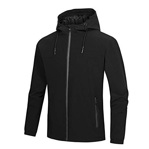 Giacca invernale da uomo, rcool cappotto impermeabile maniche lunghe caldo cappotti con cerniera antivento esterno giubbotto parka sportiva felpa outwear