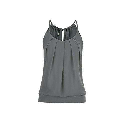 Jordanien Spitze (OSYARD Top Damen Sommer Sexy Ärmellos Shirt Crop Tops Damen Mode Rundhals Bluse Oberteile Elegant Frauen Camisole Tank)