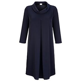 Alba Moda Damen Kleid mit Rollkragen Fließend 38