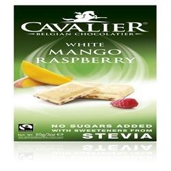 Cavalier - Belgian White Mango Raspberry Chocolate Bar - 85g (Case of 14)