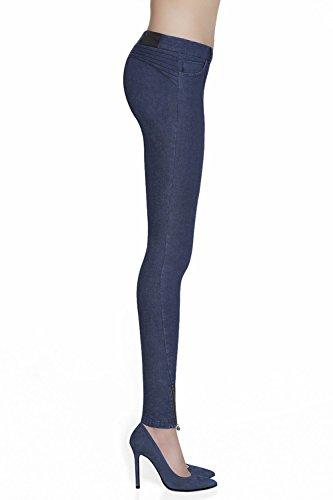 Bas Bleu Natalie Élégant Confortable Legging Imitation Du Jeans – Fabriqué En UE Bleu