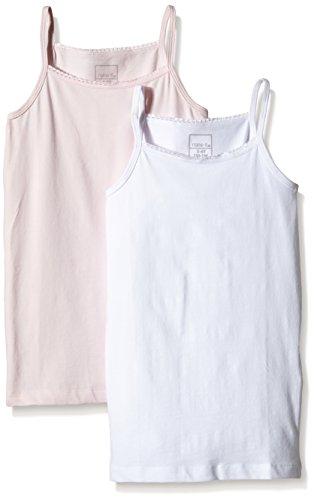 NAME IT Baby-Mädchen Unterhemd NITSTRAP TOP K G NOOS, 2er Pack, Gr. 128 (Herstellergröße: 122-128), Mehrfarbig (Ballerina)