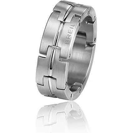 Breil anello uomo acciaio
