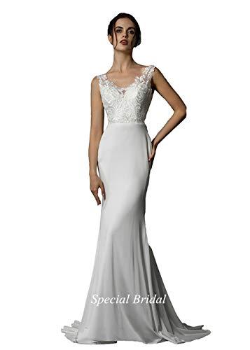 Special Bridal Satin Abendkleider Meerjungfrau Brautkleid V-Ausschnitt Brautkleid Long Party Dress Braut Kleid